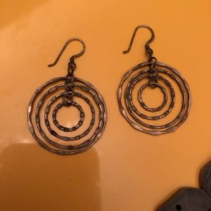 3/$10 Dangling Concentric Circle Earrings